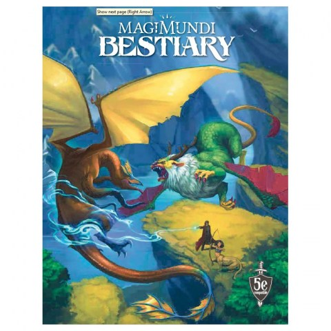 Dungeons & Dragons RPG 5th Edition: Magimundi Bestiary (5E Softcover, Inexorable Media) в D&D и други RPG / D&D 5th Edition / D&D други правила