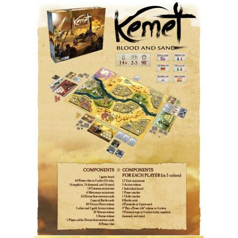 Kemet: Blood and Sand (Retail Edition, 2021) - настолна игра