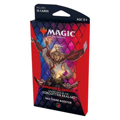 MTG: Dungeons & Dragons D&D Adventures in the Forgotten Realms Theme Booster - Red (1 бустер) в Magic: the Gathering