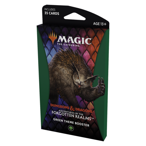 MTG: Dungeons & Dragons D&D Adventures in the Forgotten Realms Theme Booster - Green (1 бустер) в Magic: the Gathering