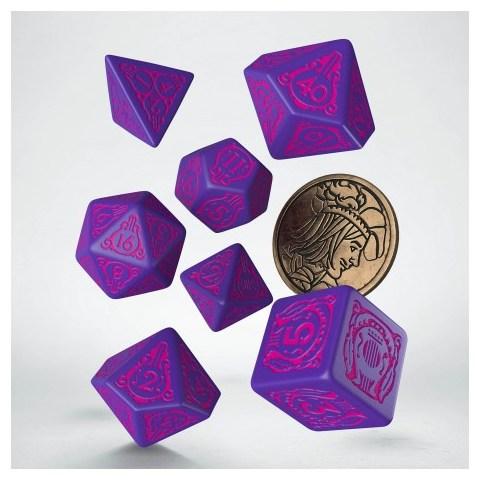Комплект D&D зарове: Q-Workshop The Witcher Dandelion - The Hearts' Conqueror (Purple & Pink) в D&D и други RPG / D&D Зарове