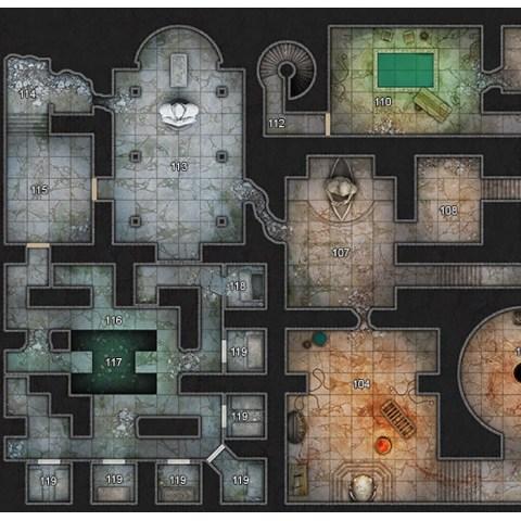 Dungeons & Dragons RPG 5th Edition: Scarlet Citadel Map Folio (13 Poster Maps & 20 Overlays, Kobold Press) в D&D и други RPG / D&D карти и аксесоари