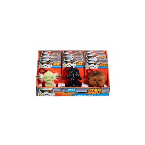 Star Wars Mini Talking Plush Keychains - Chewbacca