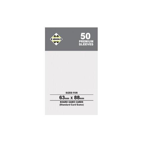 Протектори за карти 63.5x88 мм Kaissa Premium Standard Magic Card Size Sleeves (50 броя, за настолни игри и MTG, прозрачни, плътни)