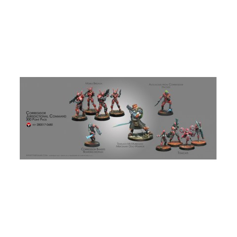 Infinity Nomads - Corregidor Jurisdictional Command 300 Points Army Pack