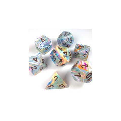 Polyhedral 7-Die Set: Chessex Festive Vibrant & Brown
