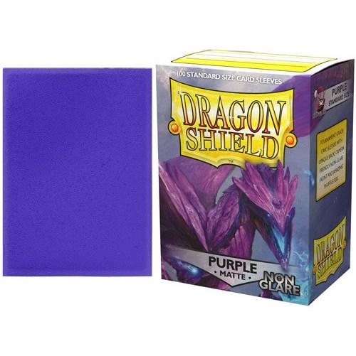 Dragon Shield Standard Sleeves - Non-Glare Matte Purple -6176